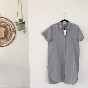 Standard James Perse Linen Chambray Shirt Dress